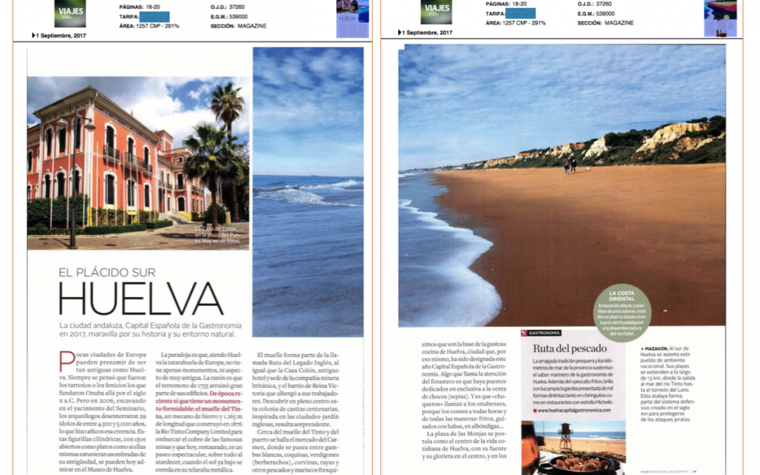 "HUELVA EN ""NATIONAL GEOGRAPHIC"""